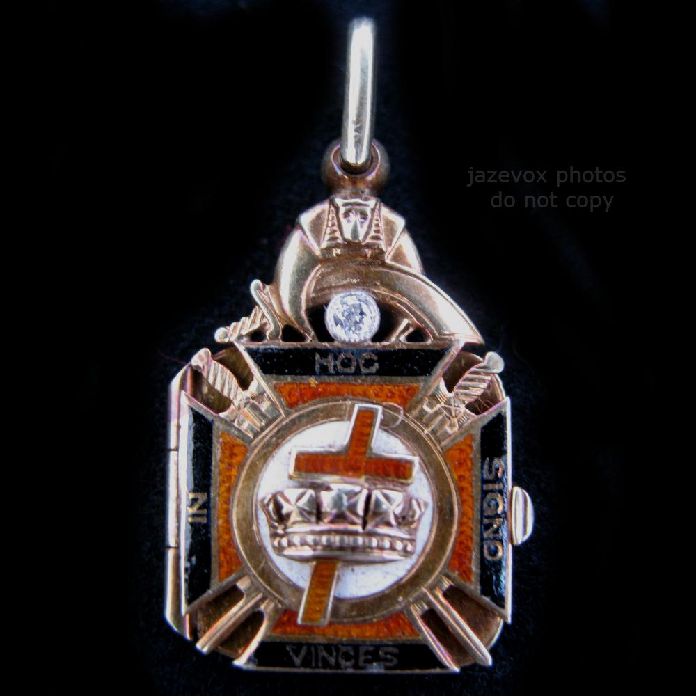 Antique Old Mason Masonic Masonry 14k Solid Gold Diamond
