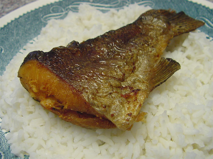 Fried fish cooked rice for Fish fried rice